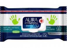 Aura Antibakteriálne vlhčené obrúsky na ruky, ničí až 99% baktérií 72 kusov