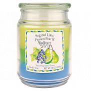 Candle-lite Limetka, Hruška, Čučoriedka vonná sviečka v skle 3 vône, doba horenia 100 - 120 hodín 538 g