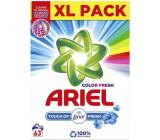 Ariel Color Fresh Touch of Lenor Fresh prací prášok na farebnú bielizeň krabice 63 dávok 4,725 kg