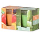 Emóciám Tasty Fruit & Aloe Vera vonná sviečka sklo 52 x 65 mm 2 kusy v krabičke