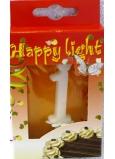 Happy light Tortová sviečka číslica 1 v krabičke