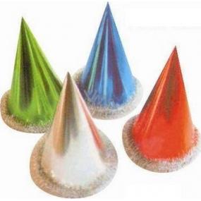 Klobúčik karnevalový lesklý s lemovaním - rôzne farby 1 kus