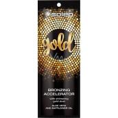 Soleo Gold bronzujúci urýchľovač opálenie s kúsočky zlata 15 ml