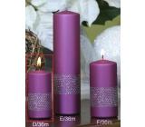 Lima Stuha sviečka violet valec 50 x 100 mm 1 kus