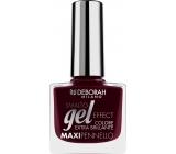 Deborah Milano Gel Effect Nail Enamel gelový lak na nehty 06 Red Boudoir 11 ml