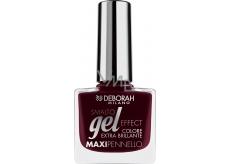 Deborah Gel Effect Nail Enamel gelový lak na nehty 06 Red Boudoir 11 ml