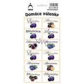 Arch Samolepky Domácí pálenky Slivovica SK 3521 12 etiket