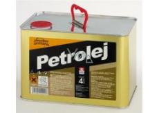Severochema Petrolej 4 l určen na svícení v petrolejových lampách a čištění