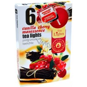Tea Lights Vanilla Sherry s vôňou čerešní a vanilky vonné čajové sviečky 6 kusov