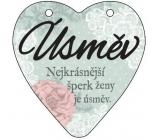 Albi Závěsná plaketka srdce Úsměv 9 cm × 10 cm
