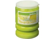 SVIEČKA Bolsius Citronella plast 65x86 mm limetkovo zelená 0871