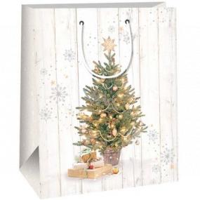 Ditipo Darčeková papierová taška 26,4 x 13,6 x 32,7 cm stromček s darčekmi