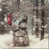 Me to You Blahoželania do obálky 3D K Vianociam, Macko s lucernou 15,5 x 15,5 cm
