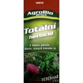 AgroBio Totálna herbicíd na ničenie burín, drevín, starých trávnikov 100 ml