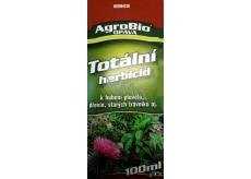 AgroBio Totální herbicid k hubení plevelů, dřevin, starých trávníků 100 ml