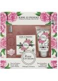 Jeanne en Provence Rose Envoutante - Podmanivá ruže parfémová voda pre ženy 60 ml + tuhé toaletné mydlo mydlo 100 g + krém na ruky 75 g kozmetická sada