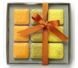 Erbario Toscano Olivový olej, Bergamot, a Verbena, Divoká Mandarinka mydlo 9 x 30 g Luxusná kozmetická sada