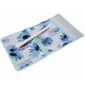 Vreckár na zavesenie modrý 43 x 24 cm 4 vrecká 711