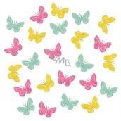 Motýli dřevění 2 cm, 24 ks