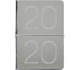 Albi Diár 2020 týždenný metalický Strieborný 19 x 13 x 0,7 cm