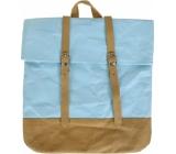 Albi Eko batoh s popruhmi vyrobený z pratelného papiera Modrý 38 x 36 x 9 cm