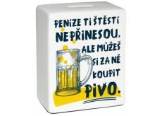 Albi Pokladnička keramická tehlička Pivo 10 cm x 11,8 cm x 5 cm