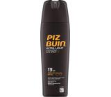 Piz Buin Ultra Light SPF15 ultra ľahký hydratačný fluid na opaľovanie 200 ml sprej