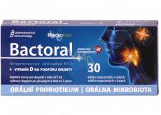 Favea Bactoral + Vitamín D orálny probiotikum na podporu imunity doplnok stravy 30 tabliet