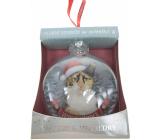 Albi Sklenená vianočné ozdôbky so zvieratkami - Trojfarebná mačka 7,5 cm x 8 cm x 3,6 cm