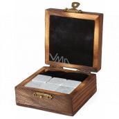 Albi Chladiace kamene do Whisky, 6 chladiacich kameňov v darčekovom drevenom boxe