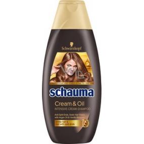 Schauma Cream & Oil intenzívny krémový šampón na vlasy 400 ml