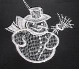 Háčkovaný sněhulák 9 cm