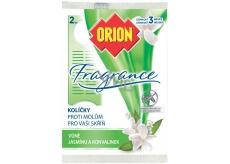 Orion Fragrance Jasmín & Konvalinka závěsné kolíčky proti molům 2 kusy