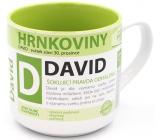 Nekupto Hrnkoviny Hrnek se jménem David 0,4 litru