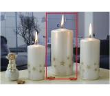 Lima Starlight sviečka biela / zlatá valec 70 x 150 mm 1 kus