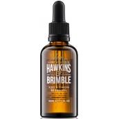 Hawkins & Brimble Elemi & Ginseng Beard Oil vyživujúci olej na fúzy a fúzy 50 ml