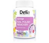 Delia Cosmetics bezacetónový odlakovač s hubkou 75 ml