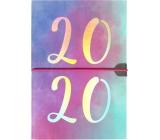 Albi Diár 2020 týždenný metalický Dúhový 19 x 13 x 0,7 cm