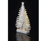 Emos Dekorácie les a jeleň na postavenie 35 x 20,5 cm - 15 LED teplá biela + časovač