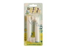 Jack N Jill BIO Buzzy Brush extra mäkké náhradné hlavice pre elektrický kefka na zuby Buzzy Brush 2 kusy balíček pre novorodencov