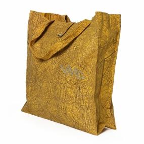 Albi Eko taška vyrobená z pratelného papiera skladacie - žltá 37 cm x 37 cm x 9,5 cm