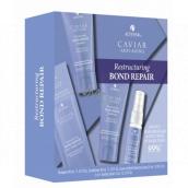 Alterna Caviar Restructuring Bond Repair obnovujúci šampón pre poškodené vlasy 40 ml + kondicionér 40 ml + Leave-in Heat Protection Spray 25 ml + 3-in-1 Sealing Serum 7ml Trial Kit set