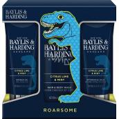 Baylis & Harding Men Citrus, Limetka a Mäta umývací gél na telo a vlasy 300 ml + balzam po holení 200 ml + sprchový gél 200 ml, kozmetická sada