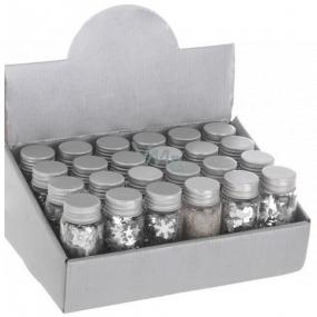 Konfety dekoratívne strieborné mix 50 g