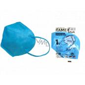 Famex Respirátor ústnej ochranný 5-vrstvový FFP2 tvárová maska modrá 1 kus