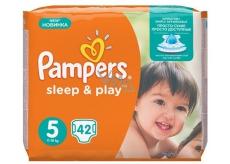 Pampers Sleep & Play 5 Junior 11 - 18 kg plienkové nohavičky 42 kusov