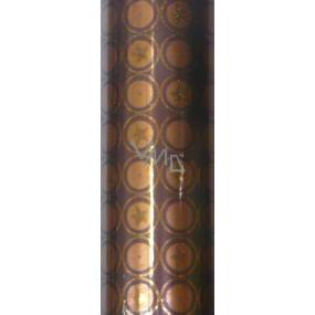 Zowie Darčekový baliaci papier 70 x 150 cm Hnedo-medený s hviezdičkami a trblietkami