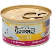 Gourmet Gold Cat Hovädzie jemná konzerva pre dospelé mačky 85 g