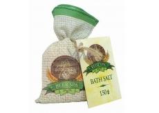 Bohemia Gifts & Cosmetics Beer Spa Pivnísůl do kúpeľa pre stimuláciu a uvoľnenie napätia v plátenom sáčku 150 g