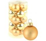 Sada skleněných baněk zlatých 3 cm 20 kusů